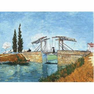 Langlois Bridge at Arles by Vincent van Gogh Photo Sculpture Key Ring