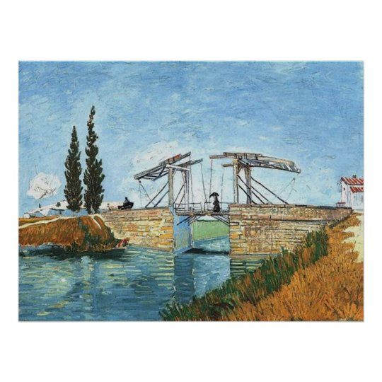 Langlois Bridge at Arles by Vincent van Gogh Poster