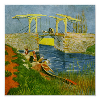 Langlois Bridge at Arles Van Gogh Fine Art Poster