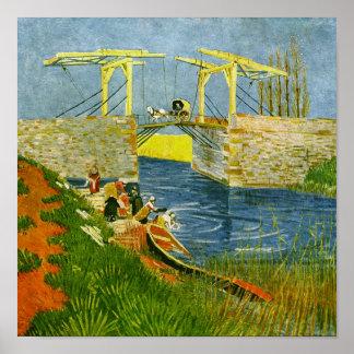 Langlois Bridge at Arles Van Gogh Fine Art Poster
