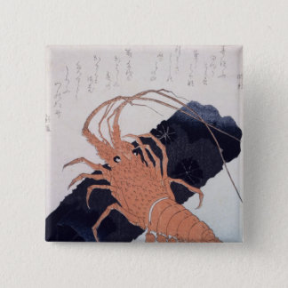 Langoustine with a Block of Charcoal, c.1830 15 Cm Square Badge