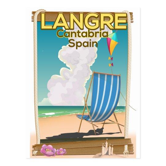 Langre, Cantabria Spain beach poster Postcard