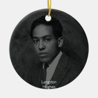 Langston Hughes Round Ceramic Decoration