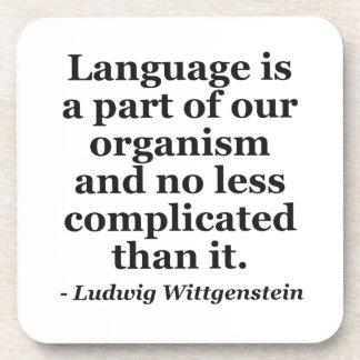 Language is part Quote Beverage Coaster