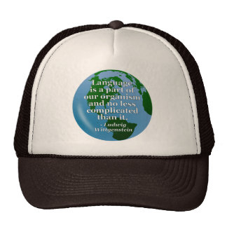 Language is part Quote Trucker Hat