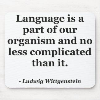 Language is part Quote Mousepads