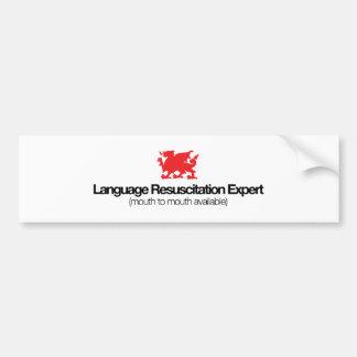 Language Resuscitation Expert Bumper Sticker