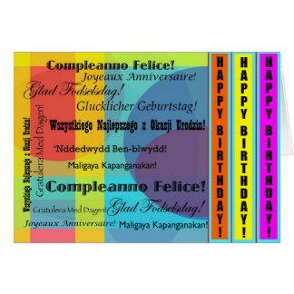 Languages Birthday Card