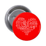 Languages of Love Heart 6 Cm Round Badge