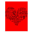Languages of Love Heart Postcard
