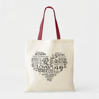 Languages of Love Heart Tote Bag