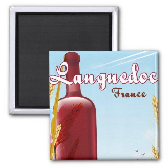 Languedoc France travel poster Magnet