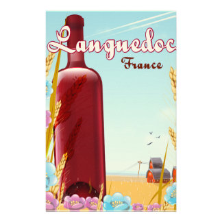 Languedoc France travel poster Stationery