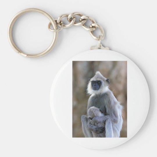 Langur monkey key ring