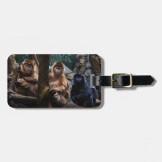Langur Monkey Luggage Tag