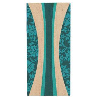 Laniakea Hawaiian Striped Surfboard Wood USB 2.0 Flash Drive