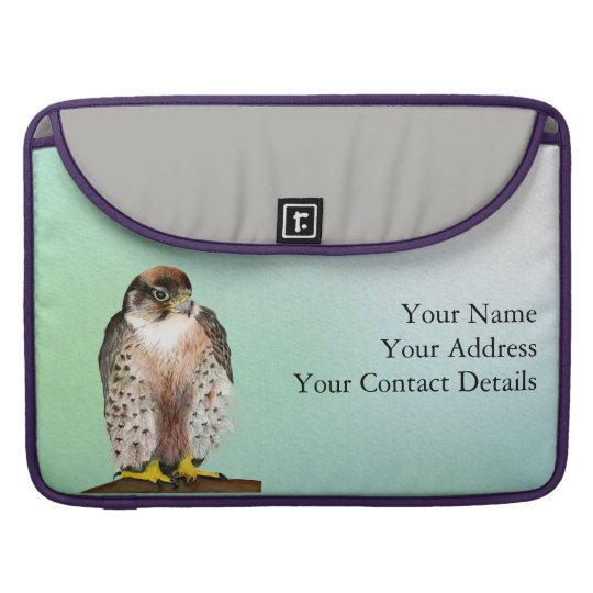 Lanner Falcon Bird Watercolor Falco biarmicus Sleeve For