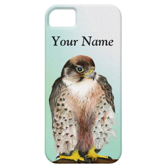 Lanner Falcon Watercolor Painting Wildlife Artwork Case For