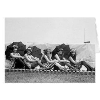 Lansburg Bathing Girls: 1922 Card