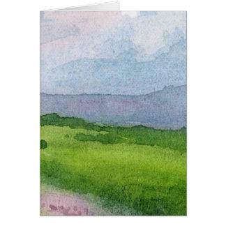 lanscape watercolor card