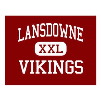 Lansdowne - Vikings - High - Baltimore Maryland Postcard