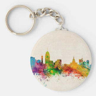 Lansing Michigan Skyline Keychains