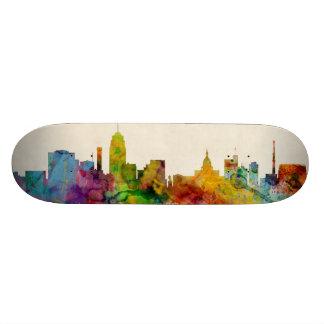 Lansing Michigan Skyline Skate Board