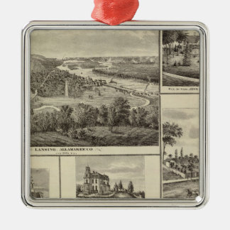 Lansing, Waukon, and residences in Nevada Christmas Ornament