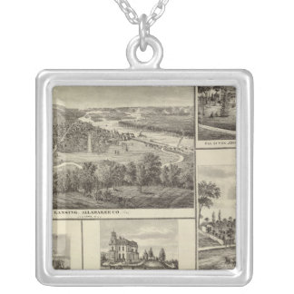 Lansing, Waukon, and residences in Nevada Silver Plated Necklace
