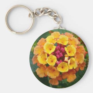 Lantana Flower II Basic Round Button Key Ring