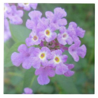 Lantana Plant Purple Floral Tiles