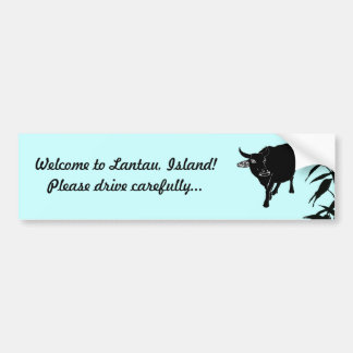 Lantau Hong Hong Feral Cattle Road Safety Bumper Stickers