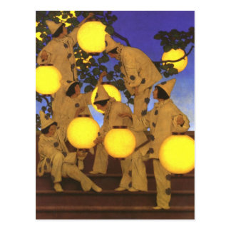 Lantern Bearers by Maxfield Parrish Postcard