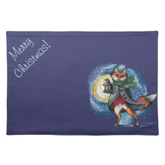 Lantern Fox Christmas placemats