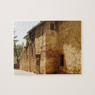 Lantern mounted on the wall of a building, jigsaw puzzle