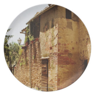 Lantern mounted on the wall of a building, plate