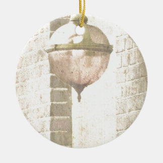 Lantern Round Ceramic Decoration