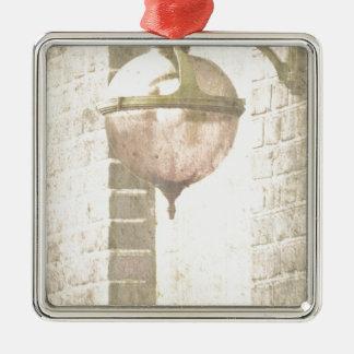 Lantern Silver-Colored Square Decoration