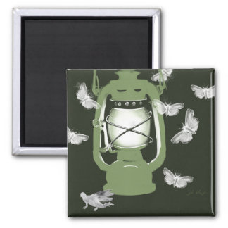 Lantern with moths and fairy magnet