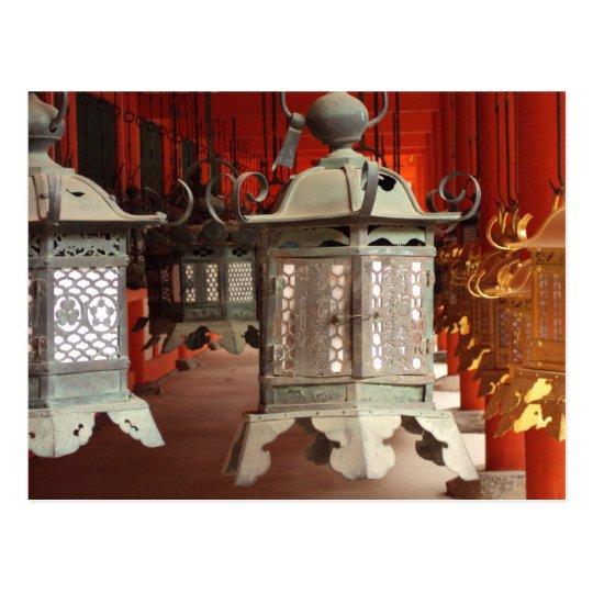 Lanterns at the Kasuga-taisha Shrine Postcard