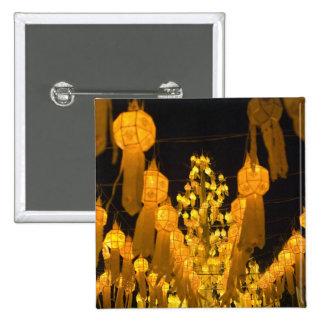 Lanterns for Loi Krathong festival. 15 Cm Square Badge