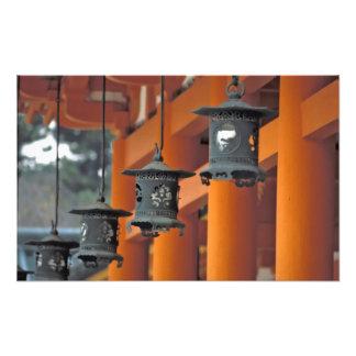 Lanterns hanging from the Heian-jingu Shrine, Photograph