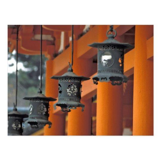 Lanterns hanging from the Heian-jingu Shrine, Postcard