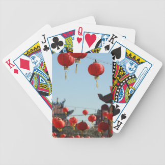 Lanterns in Chinatown Bicycle Playing Cards