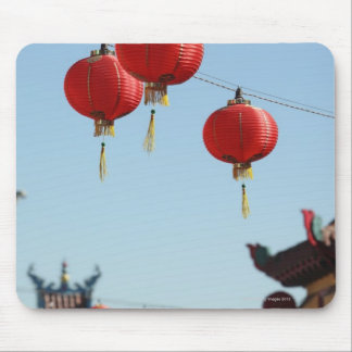 Lanterns in Chinatown Mouse Mat