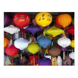Lanterns in Hoi An, Vietnam Postcard