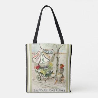 Lanvin Parfums Vintage Ad Tote