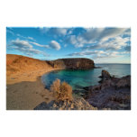 Lanzarote beach cove poster