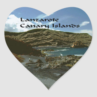 Lanzarote Canary Islands Heart Sticker