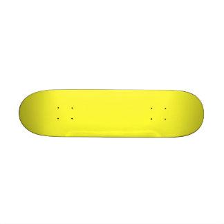 Lanzarote Lemon Acid Neon Yellow Tropical Romance Skate Board Deck